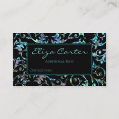 Shop Turquoise Pearl Floral Business Card created by BlueRose_Design. Business Card Design, Business Cards, Things To Come, Turquoise, Pearls, Create, Floral, Prints, How To Make