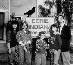 "Mary-Margaret Humes, Julie Condra, Justin Shenkarow, Omri Katz and Francis Guinan in ""Eerie Indiana"". Live Tv Show, Mary Margaret, Those Were The Days, Bad Timing, My Memory, Disney Channel, My Childhood, Movies And Tv Shows, Indiana"