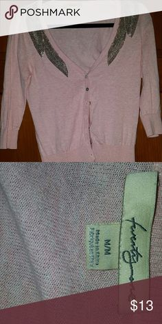 Size M pink cardigan Super feminine size M pink cardigan with silver embellishments! Smoke free home, make me an offer and don't forget to bundle!! TwentyOne Sweaters Cardigans