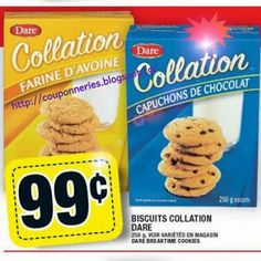 Coupons et Circulaires: 0,99$ Dare Collation biscuit 250 g