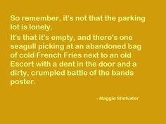 Advise from Maggie Stiefvater