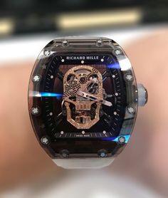 Richard Mille (Model No Elegant Watches, Stylish Watches, Beautiful Watches, Cool Watches, Casual Watches, Richard Mille, Best Watches For Men, Luxury Watches For Men, Diamond Skull