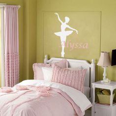 Ballerina Wall Decal  Personalized Dance Theme by FleurishWalls, $29.95