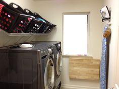 organization on pinterest laundry shelves towel storage. Black Bedroom Furniture Sets. Home Design Ideas