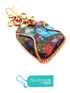 Sea Sediment Jasper Gemstone Copper Wire Wrapped Pendant from Angelleesa Designs https://www.amazon.co.uk/dp/B01KMDV0LW/ref=hnd_sw_r_pi_dp_blM7xbGYX69AE #handmadeatamazon
