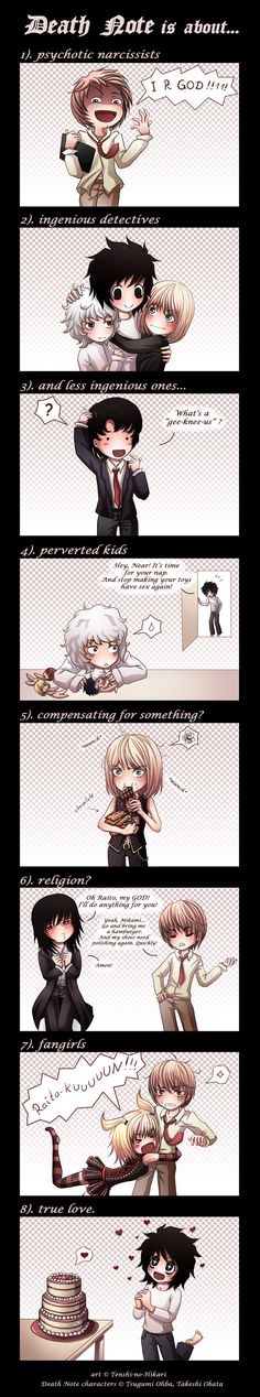 Death Note is about... by *Tenshi-no-Hikari on deviantART