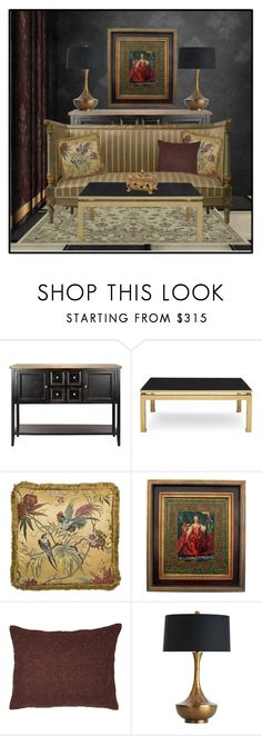 """A Room Of Antiques"" by ritadolce ❤ liked on Polyvore featuring interior, interiors, interior design, home, home decor, interior decorating, Dot & Bo, Mitchell Gold + Bob Williams and Arteriors"