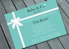 TIFFANY's Theme BABY SHOWER Invitation: Digital printable file