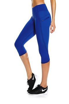 Run Top Speed Crop Tight – Harbour Blue