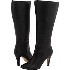 """Wide-calf boots for @Liz Cadorette! Ros Hommerson, circum. 17 3/4"""" and shaft 14"""" (not sure of the difference in terms). At $225 an investment piece. $225"""
