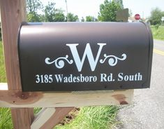 Monogrammed mailbox with address on it, done on the silhouette!