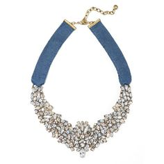 BaubleBar Brandi Bib (£37) ❤ liked on Polyvore featuring jewelry, necklaces, chains jewelry, ribbon necklace, bib jewelry, ribbon jewelry and collar jewelry