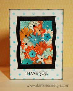 Great way to use up extra flowers in the scrapbook room!