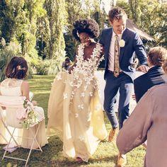 """""""#TBT last weekend, when I married my best friend, my soul pal    Dress: my beloved @weizdhurmfranklyn  : @lavinialawson #WeAreTheHarrels"""""""
