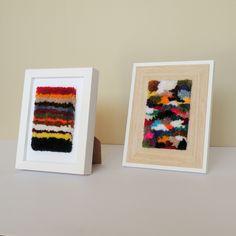 Framed Woven Wall Hanging #woven #weaving #wovenwallhanging #wallhanging #ontheloom #home #interiors #interiordesign #gift #gifts #giftideas #handmade #handcraft #craft #art #artist #colour