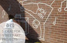 "5 ""Almost Legal"" Street Art Projects. From adding masking tape to a wall to cup murals in a fence, these ideas will shake up your curriculum!"