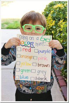 Color Hunt!!! Fun activity for beginning of school.