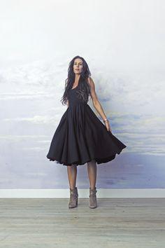 Sukienka damska sukienka z tiulem TIULEWNA black, od projektanta RISK made in warsaw | Mustache.pl