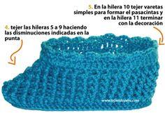 Pantuflas para damas - Tejiendo Perú...