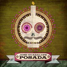 «Día de Muertos» #Poster by Gustavo Martin, vía Behance.