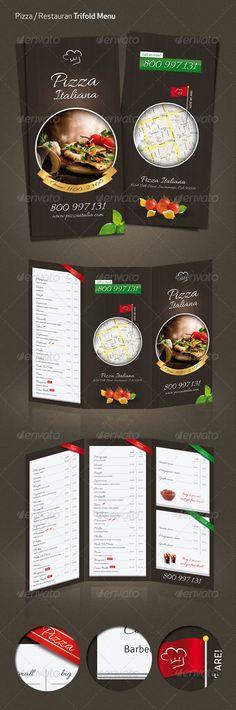 Ejemplos del diseño de Menus para Restaurantes