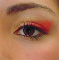 #makeup #trucco #red #rosso #yellow #giallo