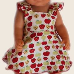 Apple sundress - Baby Born or Cabbage Patch dolls