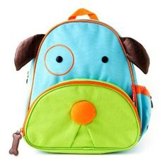 Little man won't go anywhere without his pup backpack! It's the perfect size for an extra change of clothes, books, & cars