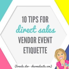 Are you in Direct Sales, and interested in expanding into vendor events?  GREAT!  Vendor events are fantastic ways to get outside of your own circle of contacts, make sales, and build leads for potential customers, hostesses, and team members.  If you're... #booth #customer #directsales