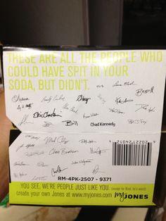 Jones Soda has a great sense of humor!