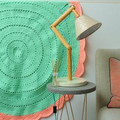 Crochet Rug Minty Pink Styling