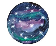 Original watercolor painting Galaxy Space art by bluepalette