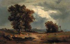 ADOLF KOSÁREK (1830 - 1859) Před bouří, 50. léta 19. stol.