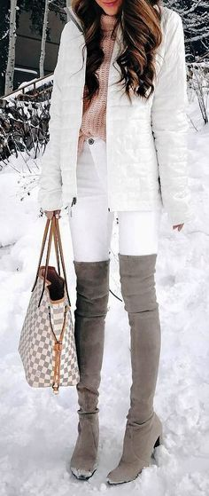 44 Winter Outfits Ideas 2017. Simply because it's cold outside doesn't mean you are unable to have as much fun getting dressed as you did throughout the warmer months..