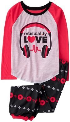 Crazy 8 Musical.ly Love 2-Piece Pajama Set 994845327