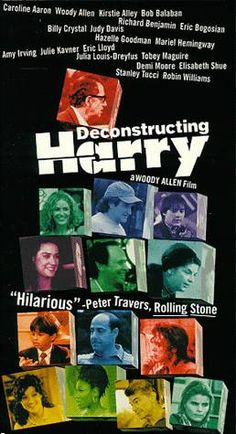 Deconstructing Harry: Suffering from writer's block and eagerly awaiting his writing award, Harry Block remembers events from his past and scenes from his best-selling books as characters, real and fictional, come back to haunt him.