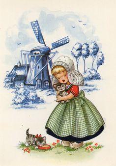 Vintage postcard- Holland Dutch
