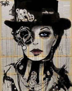 ARTFINDER: clockwork by Loui Jover - from the series of works depicting steampunk fashion, this is the second work in the series. Art Inspo, Kunst Inspo, Inspiration Art, Steampunk Kunst, Steampunk Artwork, Steampunk Drawing, Fantasy Kunst, Fantasy Art, Journal D'art