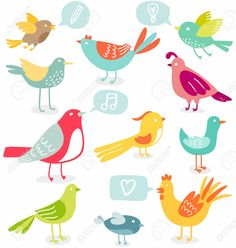 15222866-Cute-colored-birds-with-signs-vector-illustration-Stock-Photo.jpg (1235×1300)