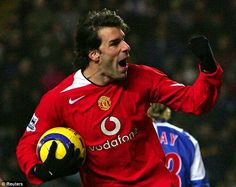Ruud van Nistelrooy is picked for his lethal finishing in front of goal