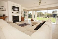 Realm Building Design Echuca - Murray Drive - living - fireplace -