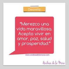 Decreto vida maravillosa | Andrea de la Mora