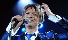David Bowie performing in London in 2002