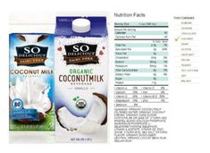 So Delicious Dairy Free Organic Coconut Milk Beverage Review Coconut Milk Brands, Organic Coconut Milk, Vegan Milk, Best Brand, Dairy Free, Vanilla, Beverages, Nutrition, No Dairy