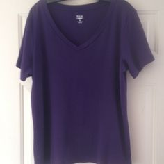 Shirt  Cotton, Purple shirt/t-shirt (gives a little) Worn just a few times. SMOKE FREE AND PET FREE HOME. Price is negotiable Style & Co Tops Tees - Short Sleeve