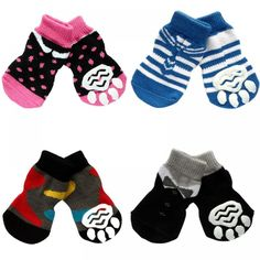 Pet socks can give your dog an extra set of charm. Moreover, these socks have many benefits. This will protect your dog's feet from any injury. You can buy soft and warm pet socks to pro Indoor Pets, Dog Socks, Pet Paws, Warm Socks, Unique Animals, Knitting Socks, Dog Accessories, Dog Care, Fur Babies