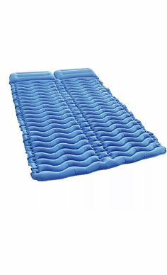 Inflatable double camping mattress