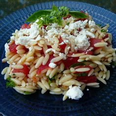 nice orzo and tomato salad with feta cheese great recipe simple and ...