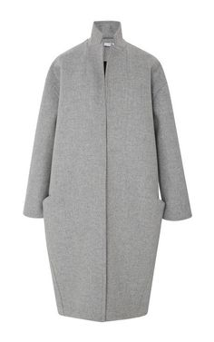 Double Bonded Wool Cocoon Coat by Sally LaPointe for Preorder on Moda Operandi