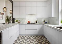 cocina blanca - Una casa del siglo XIX muy funcional
